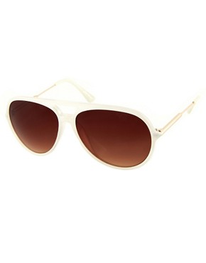 Image 1 ofJeepers Peepers Sadie Ivory Aviator Sunglasses
