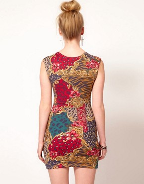 Image 2 of Minkpink 'Opulence' Leopard Floral Sweetheart Dress