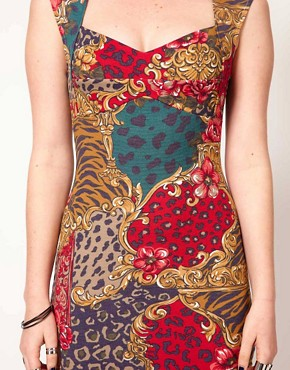 Image 3 of Minkpink 'Opulence' Leopard Floral Sweetheart Dress