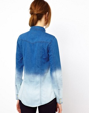Image 2 ofWarehouse Western Shirt In Dip Dye