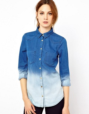 Image 1 ofWarehouse Western Shirt In Dip Dye