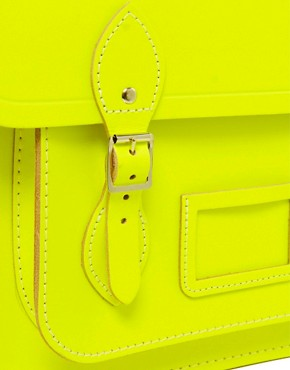 Image 4 ofThe Cambridge Satchel Company Leather Fluro Satchel 14&quot;