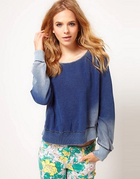 Image 1 ofTextile by Elizabeth and James Sweatshirt Denim Look