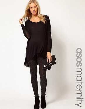 Image 1 ofASOS Maternity Soft Sparkle Leggings