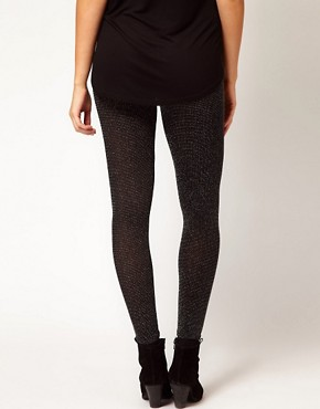 Image 2 ofASOS Maternity Soft Sparkle Leggings