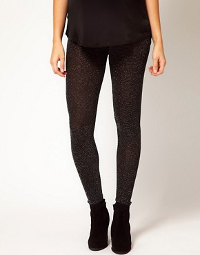 Image 4 ofASOS Maternity Soft Sparkle Leggings