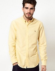 Polo Ralph Lauren Shirt In Yellow Oxford
