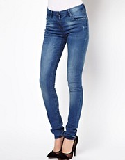 ASOS - Jean taille haute ultra skinny super doux - Dlavage clair