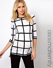 ASOS Maternity T-Shirt In Check