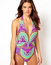 Mara Hoffman Wheel Print One Piece Swimsuit