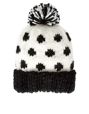 Image 2 ofASOS Spot Pom Beanie