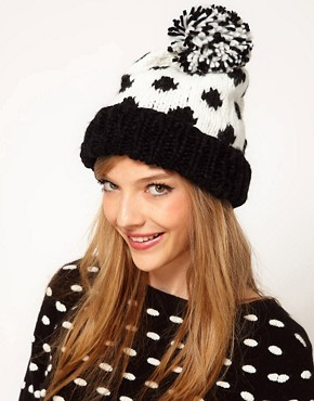 Image 1 ofASOS Spot Pom Beanie