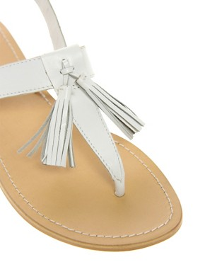 Image 2 ofASOS FLORRIE Leather Flat Sandals with Tassel
