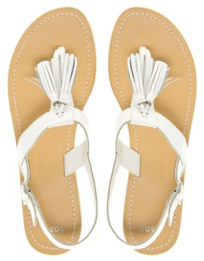 Image 3 ofASOS FLORRIE Leather Flat Sandals with Tassel