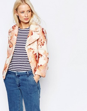 Ganni Floral Teddy Jacket