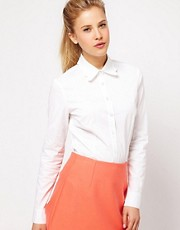 ASOS Shirt With Scalloped Collar