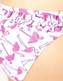 Image 3 ofASOS Flamingo Print Ruffle Hipster Bikini Pant
