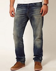 G-Star - 3301D - Jeans dritti effetto invecchiato medio