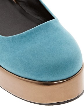 Image 2 ofASOS VOLLEY Flatform Ballet Shoes