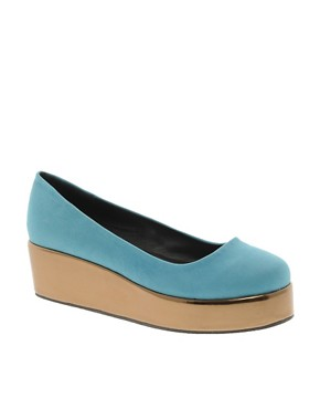 Image 1 ofASOS VOLLEY Flatform Ballet Shoes