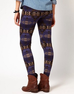 Image 2 ofDenim &amp; Supply By Ralph Lauren Leggings With Beacon Print