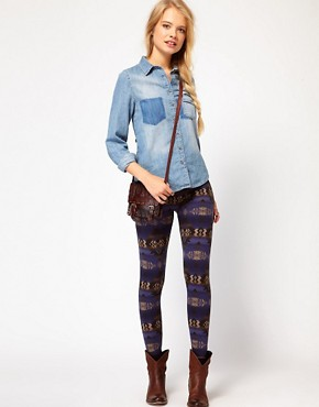 Image 1 ofDenim &amp; Supply By Ralph Lauren Leggings With Beacon Print