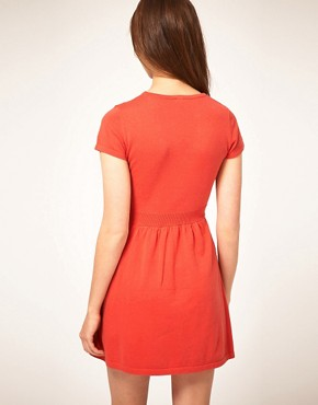 Image 2 ofASOS Knitted Dress With Button Detail