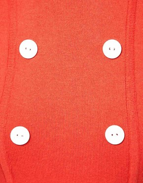 Image 3 ofASOS Knitted Dress With Button Detail