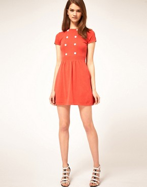 Image 4 ofASOS Knitted Dress With Button Detail