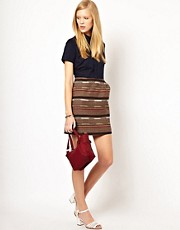 NW3 Charlie Shirt Dress with Tapesrty Skirt