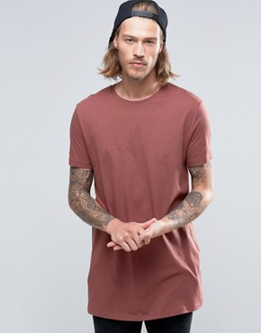 ASOS Super Longline T-Shirt In Red