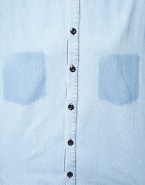 Image 3 ofASOS Denim Boyfriend Shirt with Shadow Pocket