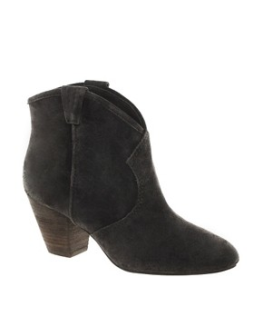 Image 1 ofAsh Jalouse Suede Mid Heel Ankle Boots