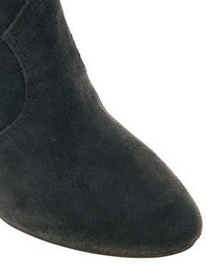 Image 3 ofAsh Jalouse Suede Mid Heel Ankle Boots