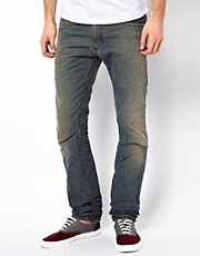 Diesel - Thavar 810X - Jeans slim testurizzati effetto scolorito