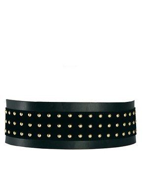 Image 1 ofASOS Wide Stud Panel Waist Belt
