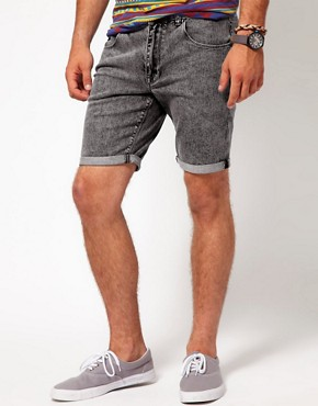 Image 1 ofASOS Shorts With Acid Wash
