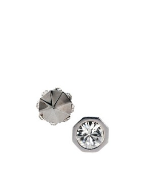 Image 1 ofMaria Francesca Pepe Stud Earrings With Swarovski Crystals