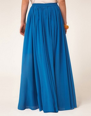 Image 2 ofAUS ASOS Maxi Skirt with Broderie Inserts