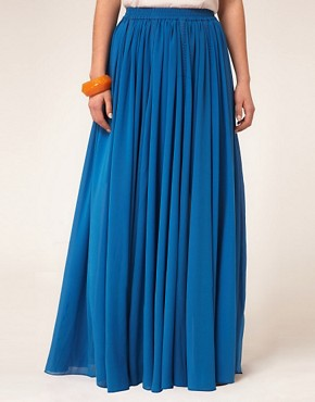 Image 4 ofAUS ASOS Maxi Skirt with Broderie Inserts