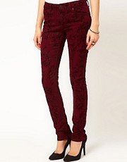 ASOS - Jeans skinny con floccatura barocca