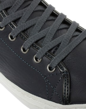 Image 2 ofASOS Mid Top Leather Trainers