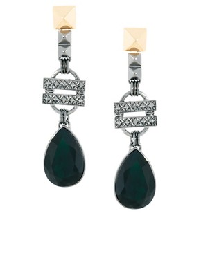 Image 1 ofASOS Baroque Drop Earrings