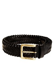 Ben Sherman Leather Plaited Belt