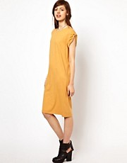 Just Female Roll Sleeve T-Shirt Dress