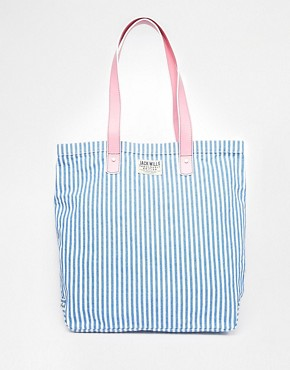 Jack Wills Canvas Leather Shopper