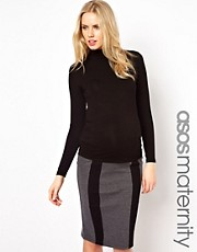 ASOS Maternity Polo Neck Top With Long Sleeve