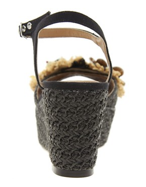 Image 2 ofRiver Island Raffia Flatform Sandals
