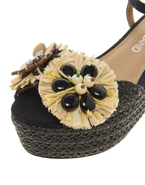 Image 3 ofRiver Island Raffia Flatform Sandals