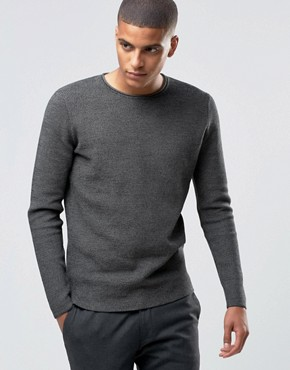 Selected Homme Raw Crew Neck